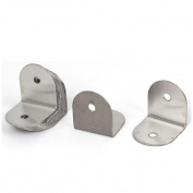 Unique Bargains Door Stainless Steel Corner Brace Joint Right Angle Bracket 35x35mm 10 Pcs
