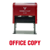 Office Copy Self Inking Rubber Stamp (Red Ink) - Large