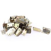 Unique Bargains Corner Brace Joint Right Angle Bracket Support Brass Tone 16x16x32mm 100pcs