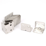 Unique Bargains 30pcs 25x25x31mm Stainless Steel Corner Brace Right Angle Bracket 1mm Thickness