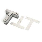 30 Pcs 80mmx80mmx16mm Metal T Shaped Flat Plate Corner Brace Angle Brackets