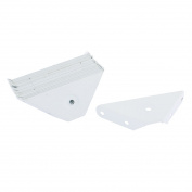 Unique Bargains Cabinet Foot Triangle Shaped Bracket Support Fastener Joint Corner Braces 20 Pcs