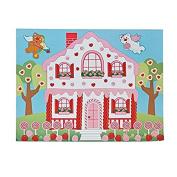 24 Valentine Candy House Do It Yourself Sticker Scenes~Arts & Crafts~School Activities~Love