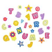 248 Patterned Alphabet Peel Off Foam Stickers~Arts & Crafts~Scrap booking~School