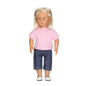Baby Toy, Hatop Casual T-shirt Jeans Pants Fit For 46cm Our Generation American Girl Doll