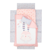 South Shore Furniture DreamIt Pink Doudou the Rabbit 3-piece Baby Crib Bed Set and Pillow