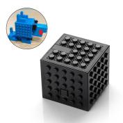 Building Block Bluetooth Speaker, Pawaca DIY Creative Building Blocks Bluetooth Audio for Kids Toys Gift - 5.2x5.2x4.6cm