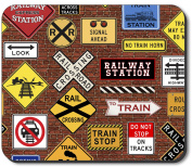 Art Plates Mouse Pad - Train Signs