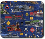 Art Plates Mouse Pad - Steam Locomotives