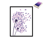 Creative Dandelion DIY Finger Signature Decorative Painting Birthday Party Wedding Canvas Painting 30x40cm