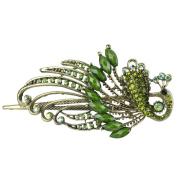 . Lovely Retro Vintage Crystal Peacock Hair Clips Hair Pins,Green