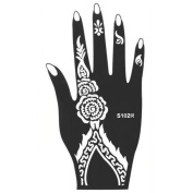 HERME Temporary Tattoo Stencils Kit for Hand Arm Leg Feet Body Art Decal