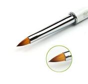 Nail art brush size 4 with rhinestone