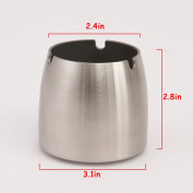 THUNFER Ashtray Stainless Steel With Smoke Mouth Table Trash Can Ornaments Portable Gifts