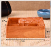 THUNFER Ashtray High-grade Wooden Craft Ornaments High-temperature Surface Carved Living Room Crafts