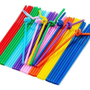 Wicemoon 80 Pcs Elbow Plastic Art Straws Drinking Straws Hen Party Favours Decoration Naughty Gifts Night Party Accessories