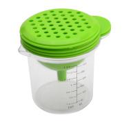 YIJIA 5 in 1 Manual Multifunctional Garlic Grater Juicer Egg Separator Funnel Measuring Cup