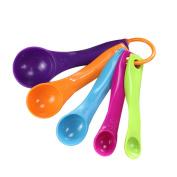 1xToruiwa Measuring Spoon Set Colourful Plastic Measuring Spoons Kitchen Baking Cooking Measuring Tools Random Colour