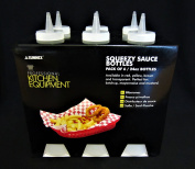 Pack of 6 Sleeves Squeezy Sauce Clear Bottles 340ml / 12oz