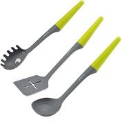 YIJIA 3Pcs/set Nylon Kitchen Tools including Spaghetti Server Slotted Turner Soup Ladle with Handle