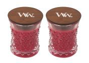 WoodWick Vintage Hobnail Candle Set - Currant