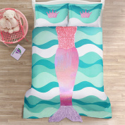 Lush Decor Lush Décor Mermaid Ruffle 2Piece Comforter Set, Twin, Pink/Purple