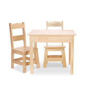 Melissa & Doug Personalised Solid Wood Table and 2 Chairs Set