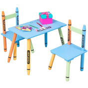 Costzon Kids Table and 2 Chairs Set, Crayon Themed Furniture, Activity Table Sets