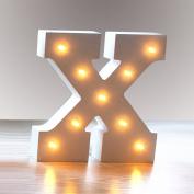 Hostweigh LED Light Wooden Alphabet Lights for Festival Decorative, Letter,Party,Wedding