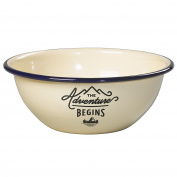 Gentlemen's Hardware Adventure Enamel Tumbler Bowl, Cream