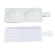 Dolland Microwave Double Egg Poacher BPA Free Non-Stick Microwave Egg Cooker