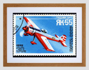 USSR STAMP AVIATION AIRCRAFT RUSSIA BLACK FRAMED ART PRINT PICTURE B12X8925