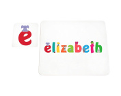 Feel Good Art Elizabeth High Gloss Placemat and Coaster for Babies and Toddlers