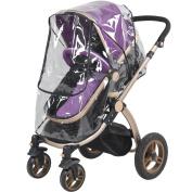 Universal Stroller Raincover, JRing Rain & Wind Covers for Pushchairs Stroller Pram Buggy fits Hundreds of Models