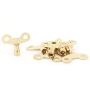 Unique Bargains 6mm x 6mm Square Socket Hole Water Tap Faucet Key Knob Switch Gold Tone 8pcs
