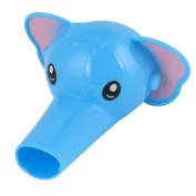 Light Blue Silicone Interface Elephant Shaped Faucet Extender Hand Washing Tool