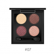 HKFV Gorgeous Superb High Class Design 4 Colours Eyeshadow Set Charming Fashion Colour Design Eyes Makeup Set