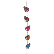 Royal Leather Hand Painted Door Hanging - Horse