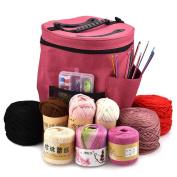 Gaddrt Knitting Yarn Storage Bag Yarn Holder,Thread Storage Bag Organiser, Yarn and Crochet Supplies