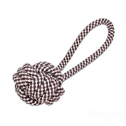 Bazaar Stripe Colourful Cotton Knitted Ball Tug Toy for Pets Dogs Cats