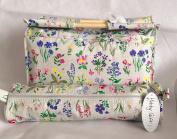 Knitting Bags Sewing Bags - Spring Garden - Wooden Handled Bag and Matching Cylindrical Roll