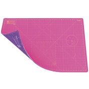 ANSIO A3 Double Sided Self Healing 5 Layers Cutting Mat Imperial/Metric 16 Inch x 10 Inch / 43cm x 28cm - Super Pink / Royal Purple