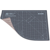 ANSIO A4 Double Sided Self Healing 5 Layers Cutting Mat Imperial/Metric 9 Inch x 12 Inch / 22cm x 30cm - Grey / Brown