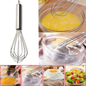 Egg Whisk, Xshuai® Stainless Steel Hand Whisk Mixer Balloon Egg Milk Beater Kitchen Cooking Tool