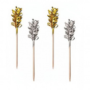 "'30 Party Chopsticks Chopsticks 10.5 cm ""Decorative Gold/Silver"