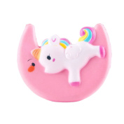 HS Stress Relief Jumbo Slow Rising Toy, Moon Unicorn Squishy Cream Scented Squeeze Toys for Collection Gift, Decorative Props