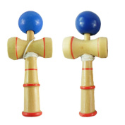 Xhanry Kendama Natural Tama Pro Toy Catch Game with Extra String and Carrying Holster