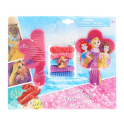 Disney Princess 7pc Hair Accessory Set With Comb Mirror and Hair Ponies