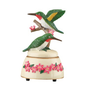 "Hummingbirds Decorative Wind Up Music Box Figurine - Plays ""Fur Elise"""