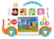 Kiddieland Toys Limited Mickey Mouse & Friends Talkin' School Bus Infant Learning Toy, 23cm x 34cm x 6cm